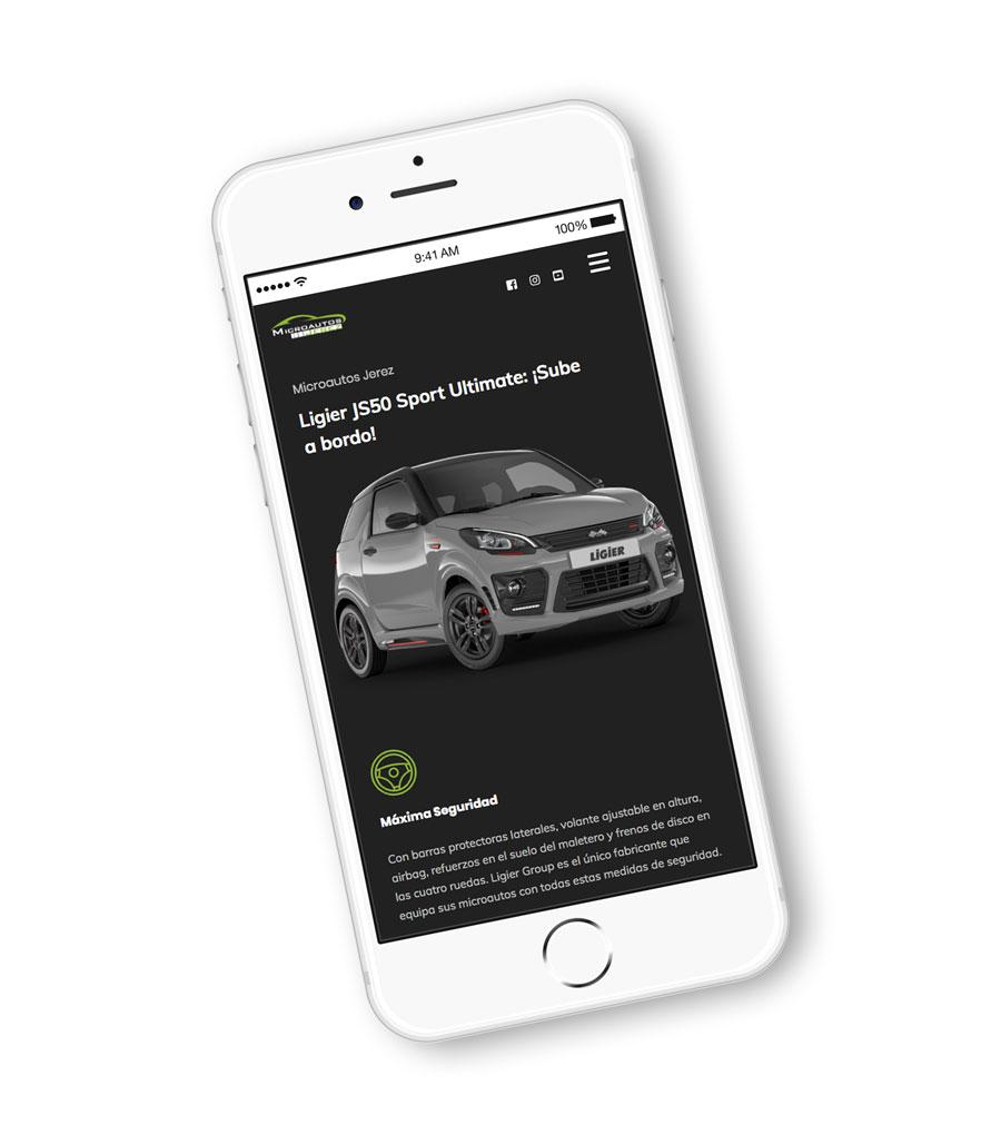 Microautos Jerez Diseño Web Al Sur Estudio Responsive Móvil Mobile