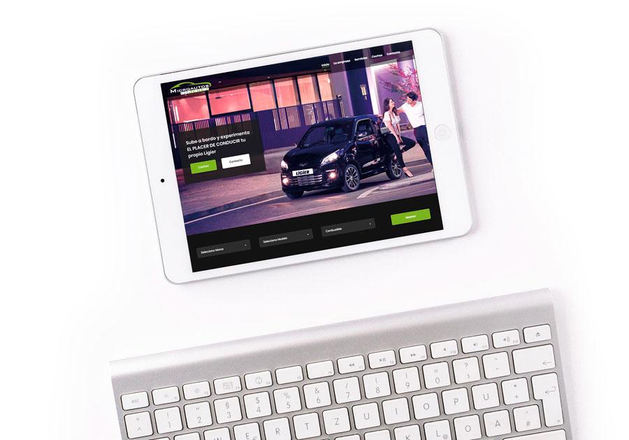 Microautos Jerez Diseño Web Al Sur Estudio Tablet