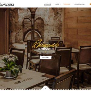Restaurante Almiranta Diseño Web Centro de Sevilla