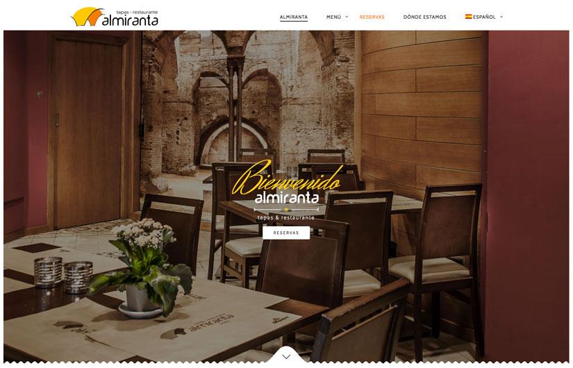 Diseño Web Restaurante Almiranta