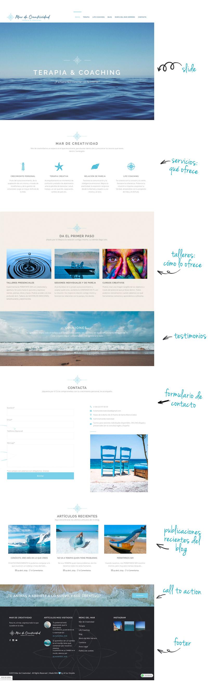 Mar de Creatividad Diseño Web y Logotipo