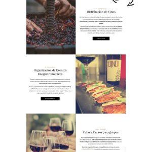 diseño web y tienda de vinos de al sur gourmet maqueta