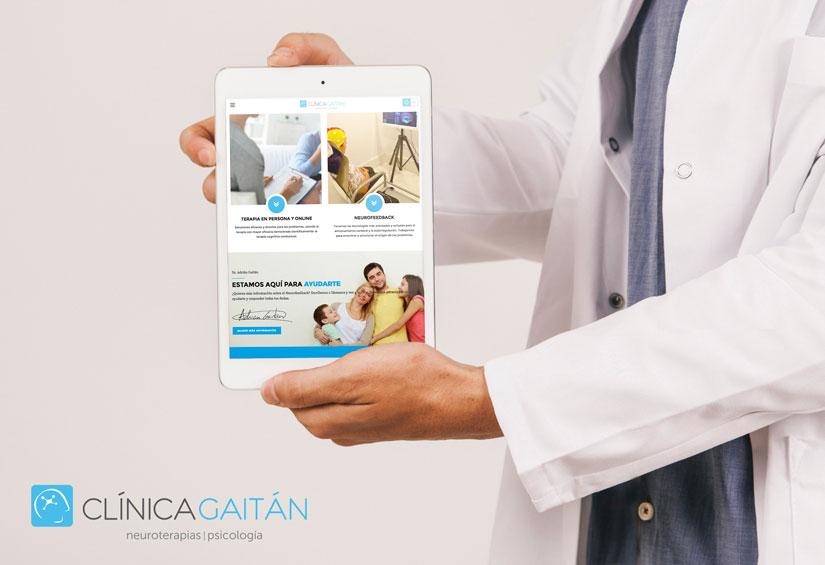 clínica gaitán diseño web seo el puerto