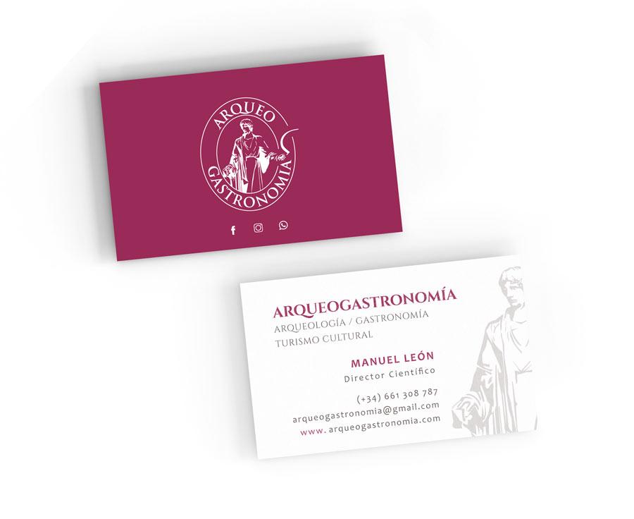 arqueogastronomía diseño tarjetas de visita