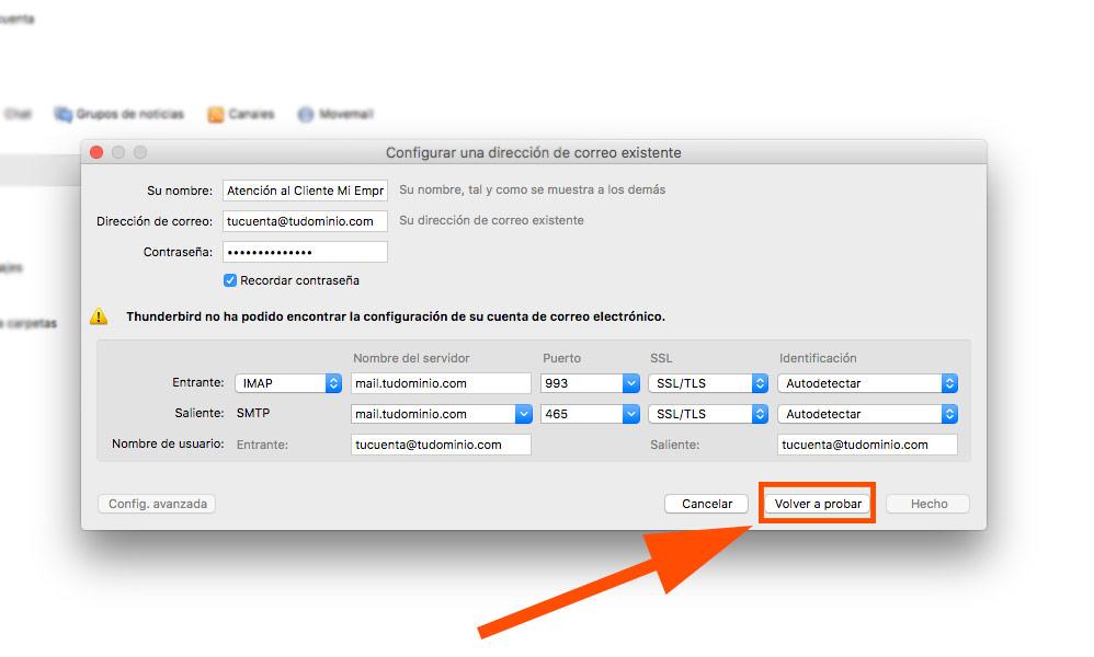 Cómo configurar tu correo corporativo en thunderbird Al Sur Estudio manual