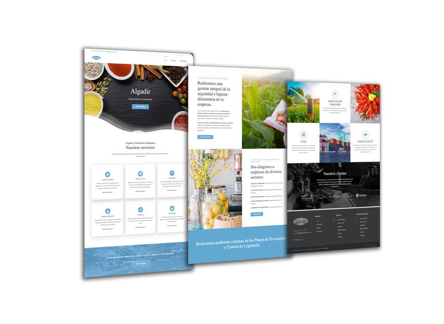 Algadir Consultoría Alimentaria Diseño Web Al Sur Estudio