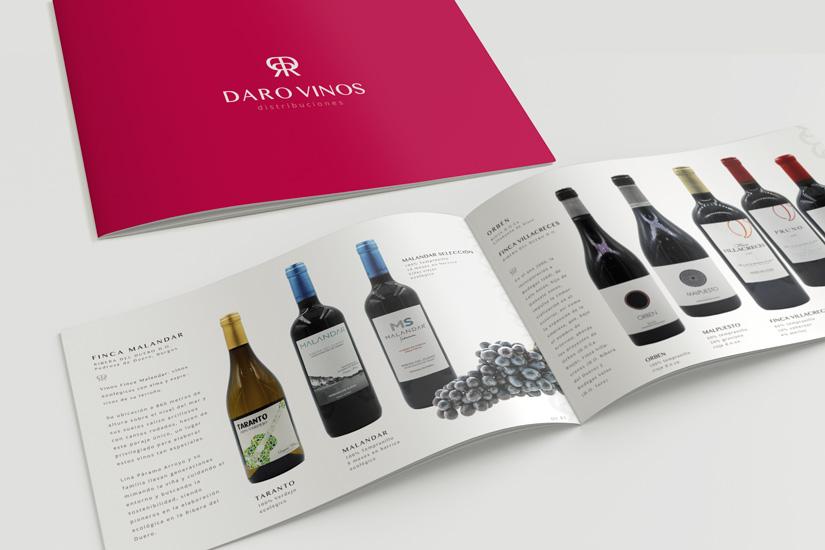 Daro Vinos Distribuciones Logotipo, Diseño Web, Diseño de Marca y Catálogo de Vinos Al Sur Estudio