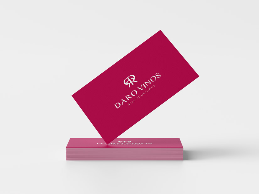 Daro Vinos Distribuciones Logotipo, Diseño Web Responsive, Diseño de Marca y Catálogo de Vinos Al Sur Estudio El Puerto Santa María Diseño tarjetas