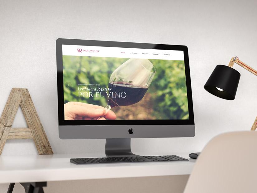 Daro Vinos Distribuciones Logotipo, Diseño Web Responsive, Diseño de Marca y Catálogo de Vinos Al Sur Estudio El Puerto Santa María