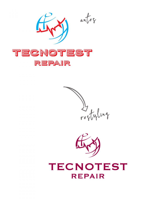 Tecnotest Repair Restyling de marca Logotipo