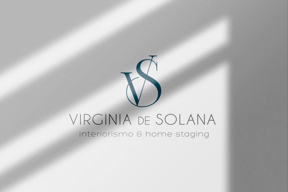 Virginia de Solana Interiorismo Branding Al Sur Estudio Logotipo