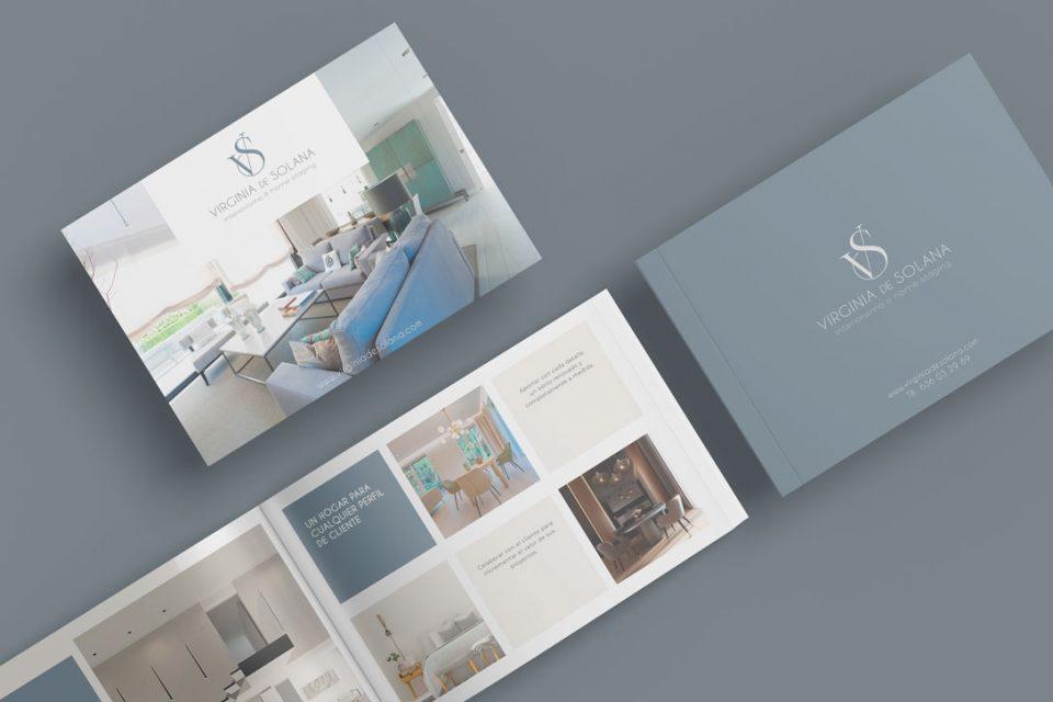 Virginia de Solana Interiorismo Branding Al Sur Estudio Diseño Dossier Catálogo