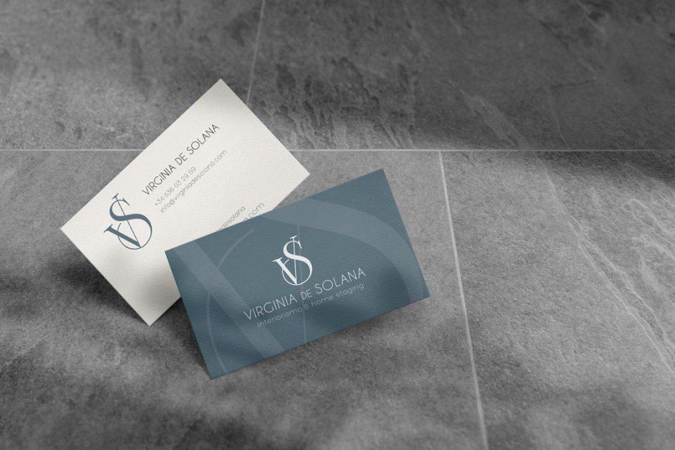 Virginia de Solana Interiorismo Branding Al Sur Estudio Tarjetas de Visita