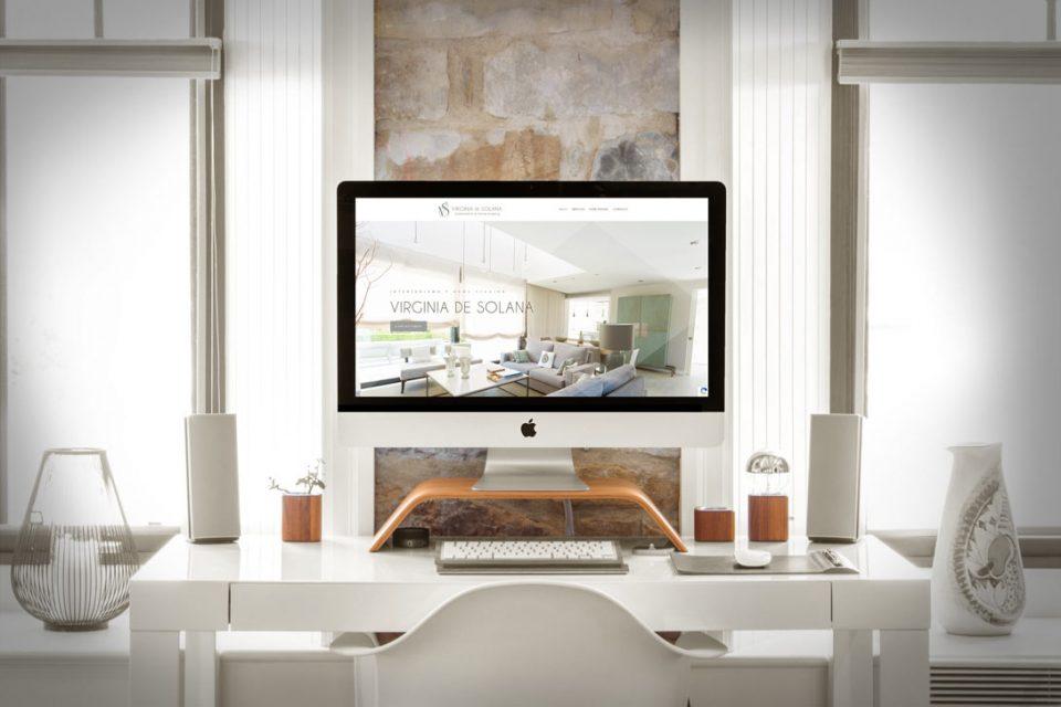 Virginia de Solana Interiorismo Branding Al Sur Estudio Diseño Web
