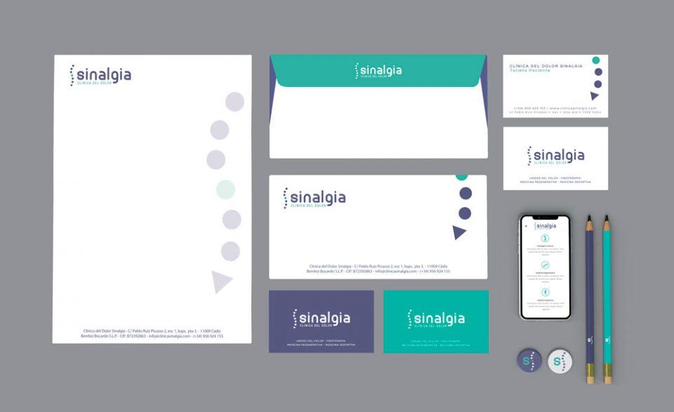 Sinalgia Branding Al Sur Estudio Cádiz El Puerto Diseño papelería Cádiz